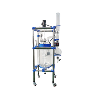 80L Petrochemical and Biopharmaceutical Jackete Glass Reactor
