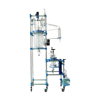 2L 30L Combined Integrated Reactor Jacketed Glass Reactor