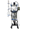 50l three layer glass reactor with manual lifting