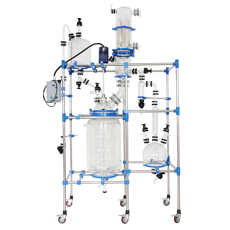 Multifunctional glass reactor